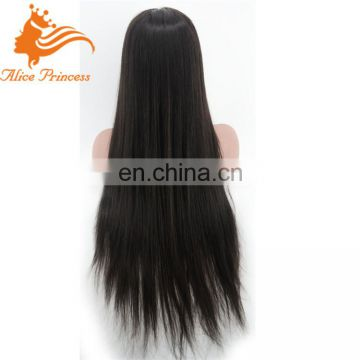 2016 Wholesale Price Straight Full Lace Human Hair Wigs Glueless Lace Front Wigs With Ponytail Brazilian Virgin Hair Wigs