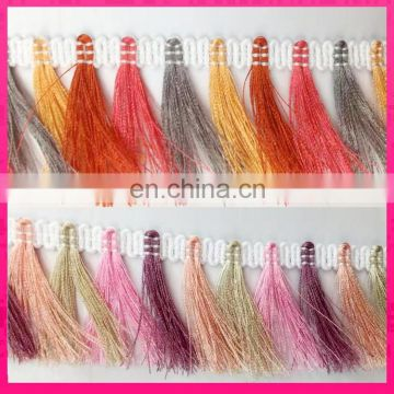 new and hotselling colorful ethnic tassel trim fringe for clothing