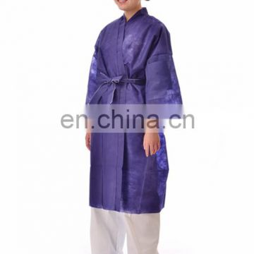 Disposable bathrobe nonwoven PP sauna gown for hotel