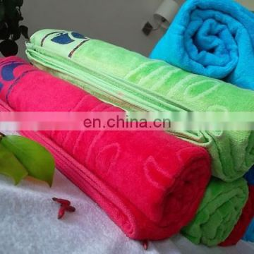wholesale cheap velour reactive print 100% cotton high quality China OEM promotional supersoft custom towel