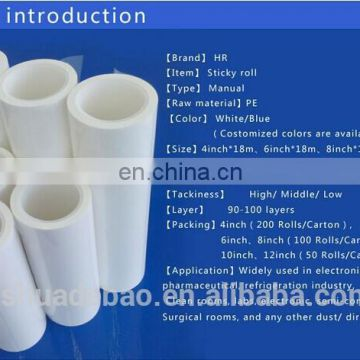 PP sticky roller white color