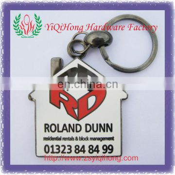New Design House Shape Keychains Key Chain For Real Estate Promotion