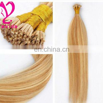 High quality Perfect blonde euro i tip human hair remy hair extensions wholesale hair