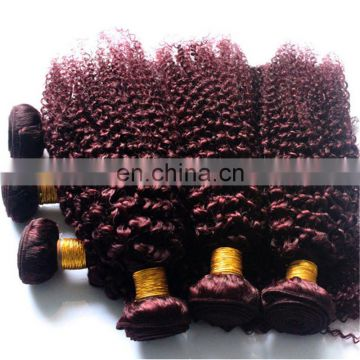 Factory wholesale 100% human hair weave BG color kinky curly brazilian hair extension
