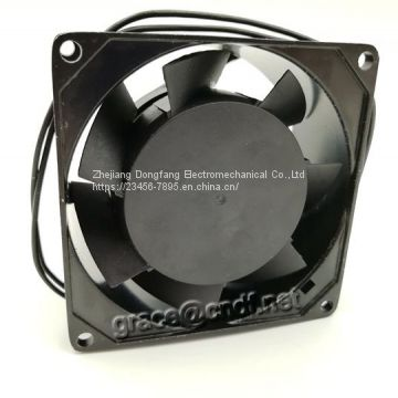 CNDF industrial exhaust fan 80x80x38mm ac cooling fans motor 220/240VAC  0.08/0.07A 2200/2700rpm TA8038HSL-2