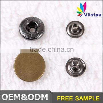 Custom logo Washable Nickel-Free fashion metal button for jeans