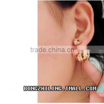 Gold stud earring jewelry wholesale earrings women
