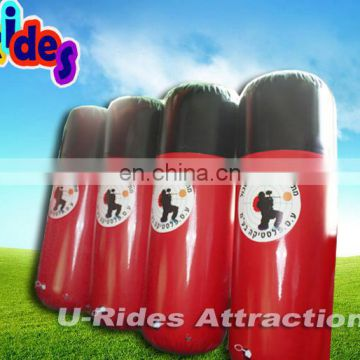 Hot selling Inflatable Paintball Field, 29 Pieces Red Paintball Bunkers arena
