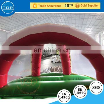 TOP INFLATABLES Hot selling bouncy house inflatable castle fish water slide