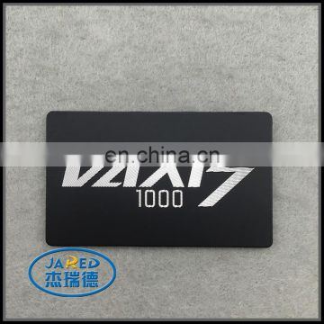 2015 Black Color Popular Handmade 3M Adhesive Customized Logo Metal Printing Aluminum Label