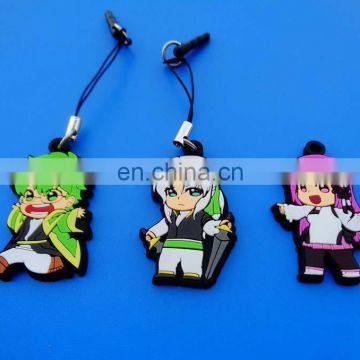 Hottest!!!!! wholesale cute anime mobile strap with dust pluggy