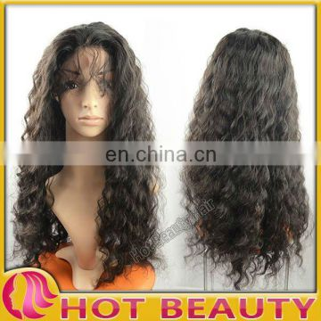 Hot Beauty Untreated Virgin Indian Human Hair Wigs for Black Women