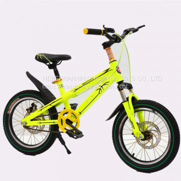 14/16/18 Inch Children Mountain Bike Sport Bicycle with Yellow Color