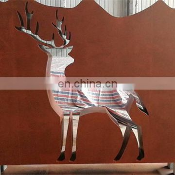 high quality decorative rust corten metal sculpture