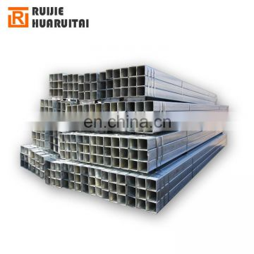Black and galvanized weld 80x80 ms steel square tube