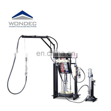 Double silicone extruder machine glass silicon glue component