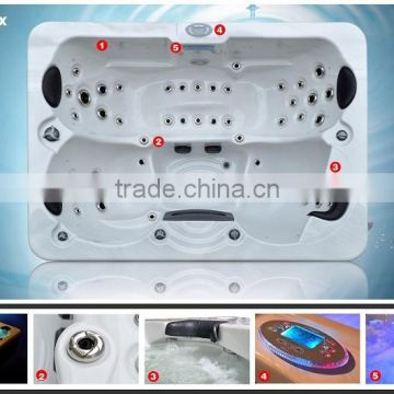 3 persons Led lighting spa whirlpool with stereo music