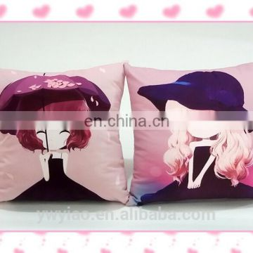 Printing Little Girl Beauty Body Cushion Cover