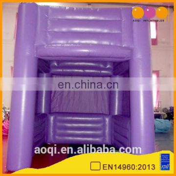 2015 AOQI new arrival clear outdoor advertising inflatable cube tent for trade show