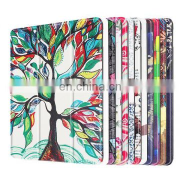 Different Patterns Tri-fold Flip Stand Smart Weak UP Sleep PU Leather Case for iPad Pro 9.7, for iPad Pro 9.7 Case