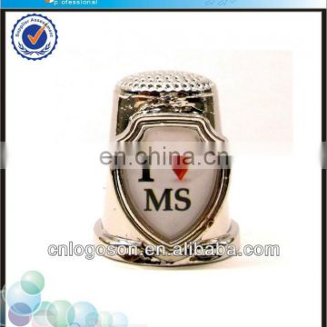 custom collection i love MS souvenirs metal sewing souvenir thimble
