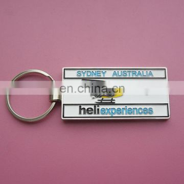 fashion airplane image design engraved logo with soft enamel customized company souvenir metal keychain