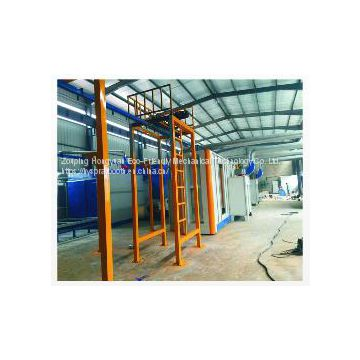 Manually Metal powder coating spray line for sale