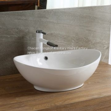 Hot selling ceramic tabletop bathroom sanitaryware hand wash art basin
