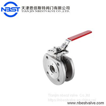 Stainless Steel 316 Wafer Type Casting Floating Flange Ball Valve