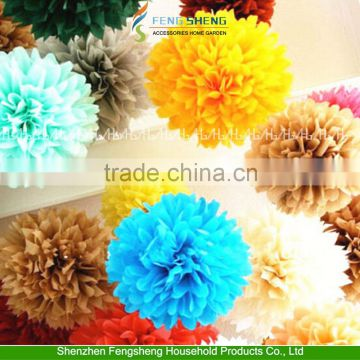 "Wedding Decoration 10"" Tissue Paper Pom Poms Flower Balls Party Baby Shower"