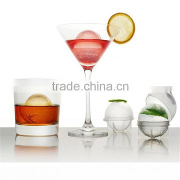 4pcs/set Plastic Ice Cube Ball Brick Maker Tray Round Mold Mould