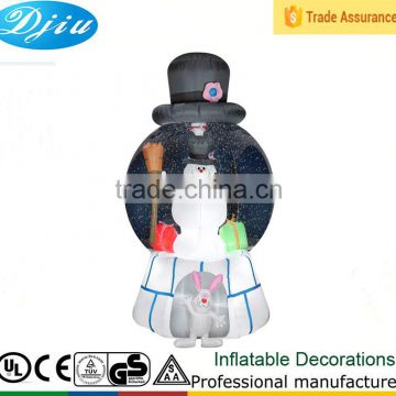 Christmas Inflatable FROSTY THE SNOWMAN SNOWGLOBE Airblown with Led lights