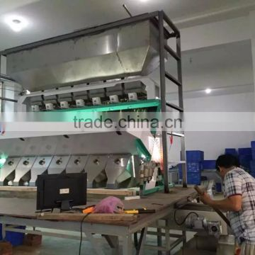 7 chutes 448 channels CCD watermelon seeds color sorter/ sorting machine for watermelon seeds