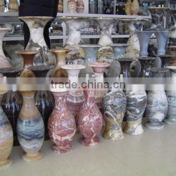 colorful flower marble vase