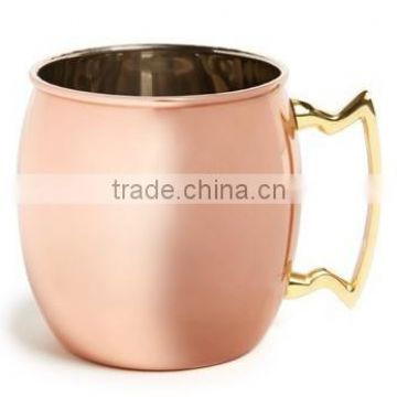 FDA APPROVED SMOOTH 100% PURE COPPER 16 OZ BARREL MUG FOR MOSCOW MULE, MINT, GINGER VODKA