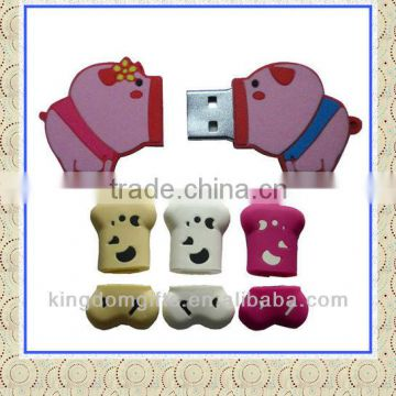 Cute Pigs Design Silicone USB