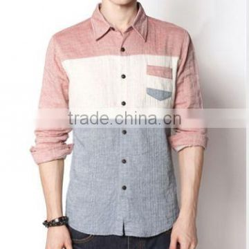 custom fashion slim fit shirts for men and men's linen shirts