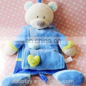 high quality level height measuring stick cute plush bear toys for kid