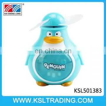 Summer electric fan mini penguin toy three color mixs