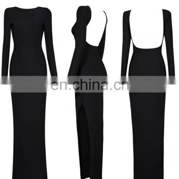 woman bodycon long sleeve maxi party dress , latest dress designs bandage dress for ladies