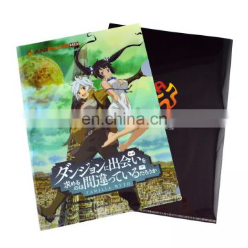 Japanese cartoon style design printed a4 custom folder