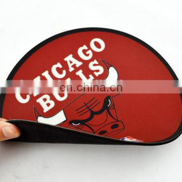 High quality custom logo round mouse mat