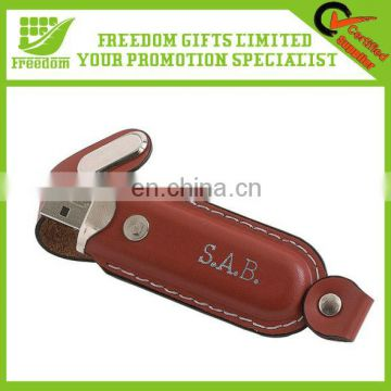 Logo Design Custom Leather USB Flash Drive