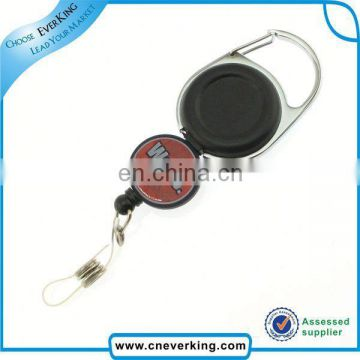 Custom shaped abs and zinc alloy badge reel for promotion