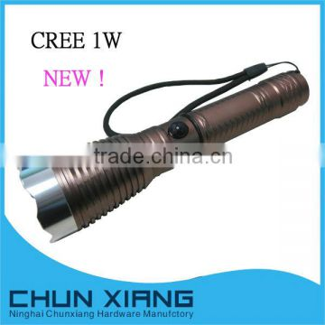 3W led power style flashlight rechargeable flashlight
