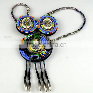 Beautiful Bohemian Wooden Beaded Necklace For Neck Applique/Bead Collar for Summer Clothes