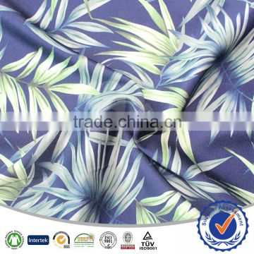 96% Polyester 4% Spandex Fabric For New Zealand Beach Shorts Printed 4 Ways Spandex Fabric