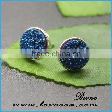 Bulk Wholesale Real Natural Agate turkish druzy earrings wholesale