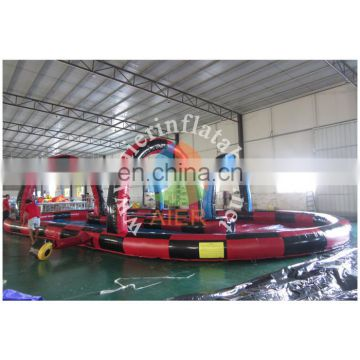 inflatable track playgroud/track with floor sport game