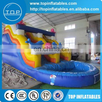 New design fashion inflatable hurricane water slide